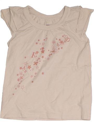 T-shirt manches courtes fille VERTBAUDET blanc 10 ans été #1325718_1