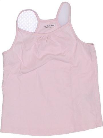 T-shirt sans manches fille VERTBAUDET rose 4 ans été #1326022_1