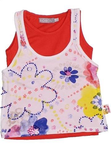 T-shirt sans manches fille BOBOLI rose 2 ans été #1326220_1