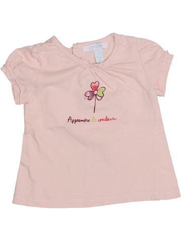 T-shirt manches courtes fille OKAIDI violet 6 mois été #1326233_1
