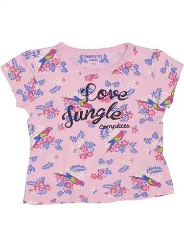 T-shirt manches courtes fille COMPLICES rose 5 ans été #1326803_1