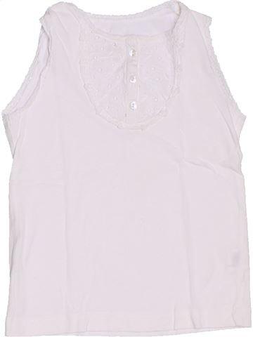 T-shirt sans manches fille CFK blanc 4 ans été #1326974_1