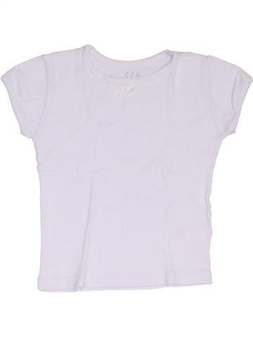 T-shirt manches courtes fille CFK blanc 3 ans été #1326976_1