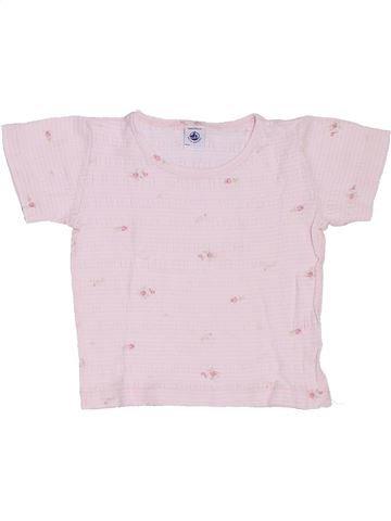 Camiseta de manga corta niña PETIT BATEAU blanco 4 años verano #1327000_1