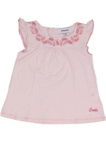 Camiseta de manga corta niña CREEKS violeta 8 años verano #1327010_1