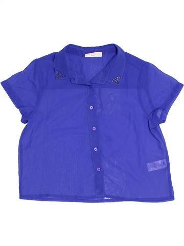 Blouse manches courtes fille BHS bleu 11 ans été #1327081_1