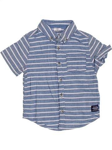 Chemise manches courtes garçon F&F bleu 3 ans été #1330123_1