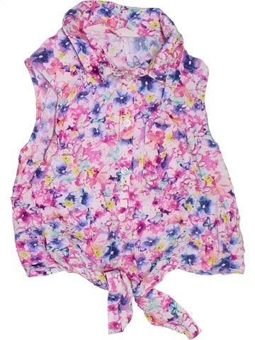 Blouse manches courtes fille H&M rose 9 ans été #1330177_1