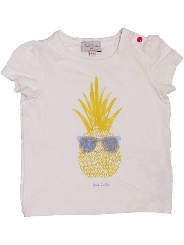 T-shirt manches courtes fille PAUL SMITH blanc 6 mois été #1330496_1