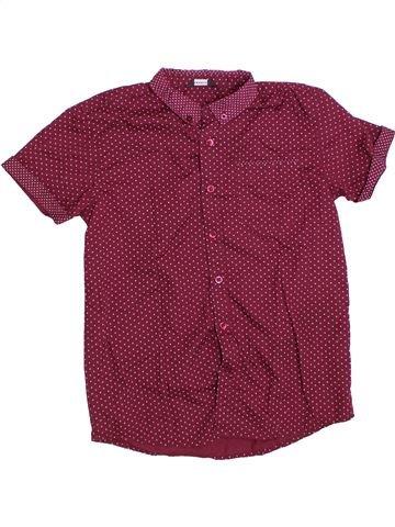 Chemise manches courtes garçon GEORGE violet 12 ans été #1330534_1