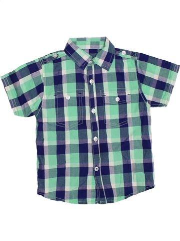 Chemise manches courtes garçon GEORGE bleu 5 ans été #1330541_1