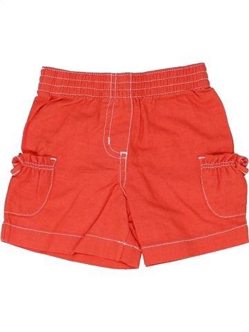 Short - Bermuda fille MINI MODE orange 3 mois été #1330576_1