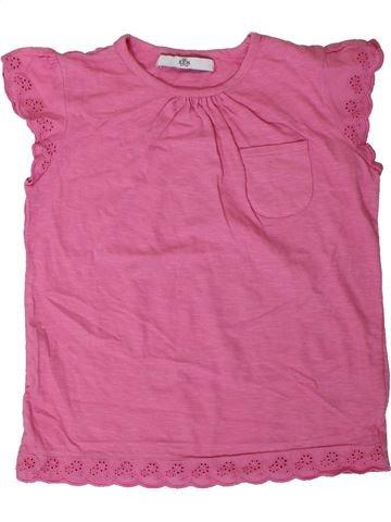 T-shirt manches courtes fille MARKS & SPENCER rose 7 ans été #1330797_1