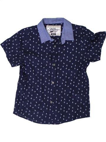 Chemise manches courtes garçon MATALAN bleu 5 ans été #1330806_1