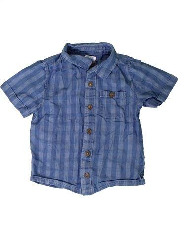 Chemise manches courtes garçon M&CO bleu 3 ans été #1330841_1