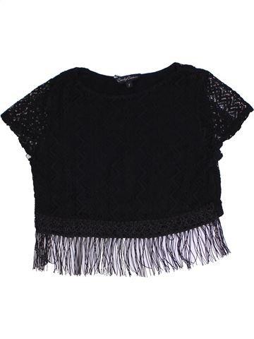 T-shirt manches courtes fille CANDY COUTURE noir 9 ans été #1330970_1