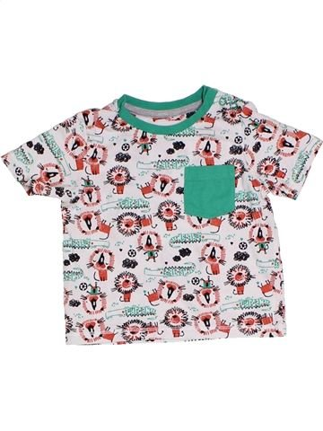 T-shirt manches courtes garçon TU blanc 6 mois été #1331106_1