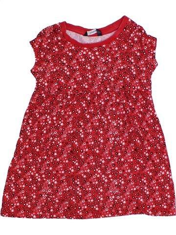 Robe fille GEORGE rouge 3 ans été #1331120_1