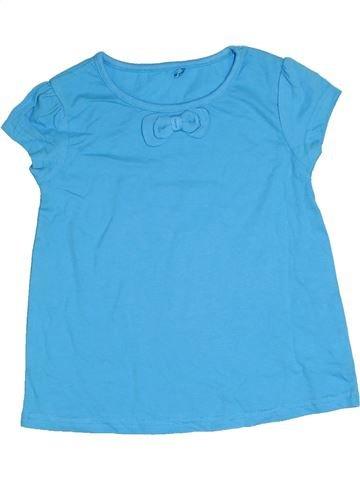 T-shirt manches courtes fille GEORGE bleu 4 ans été #1331154_1