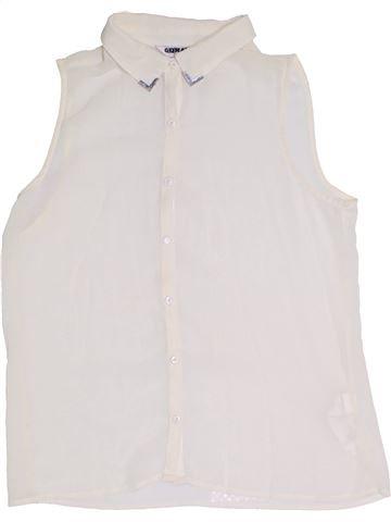 Blouse manches courtes fille NEW LOOK blanc 14 ans été #1331164_1