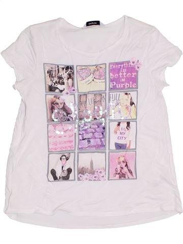 T-shirt manches courtes fille GEORGE blanc 9 ans été #1331179_1