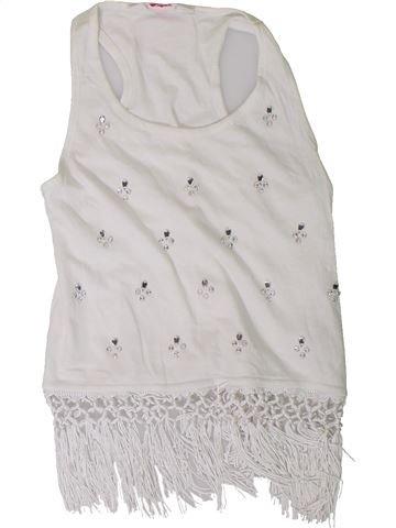 T-shirt sans manches fille PRIMARK blanc 9 ans été #1331189_1