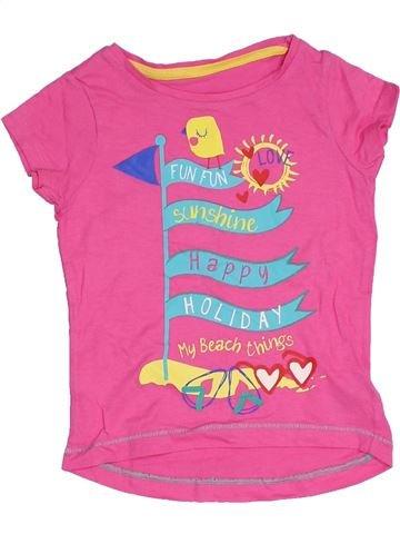 T-shirt manches courtes fille MOTHERCARE violet 3 ans été #1331256_1