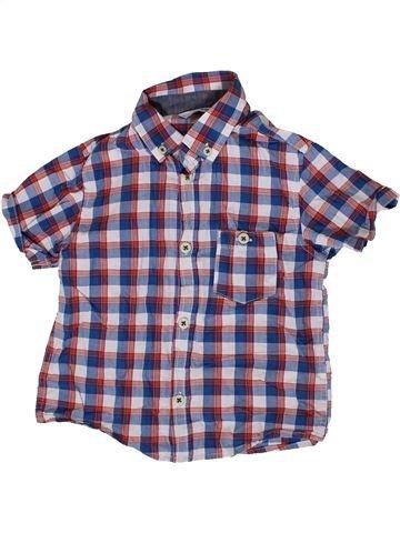 Chemise manches courtes garçon GEORGE violet 3 ans été #1331309_1