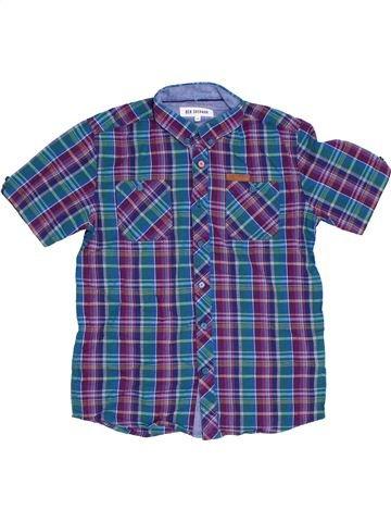 Chemise manches courtes garçon BEN SHERMAN bleu 9 ans été #1331404_1