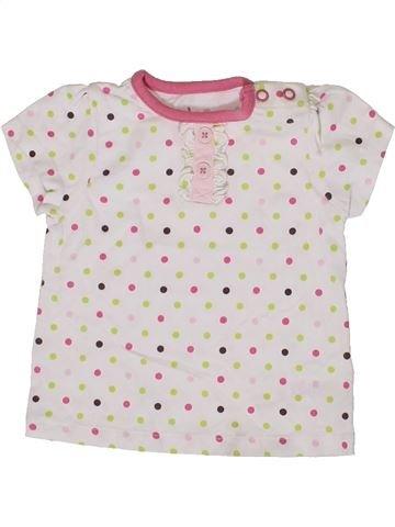 T-shirt manches courtes fille TU blanc 6 mois été #1331529_1