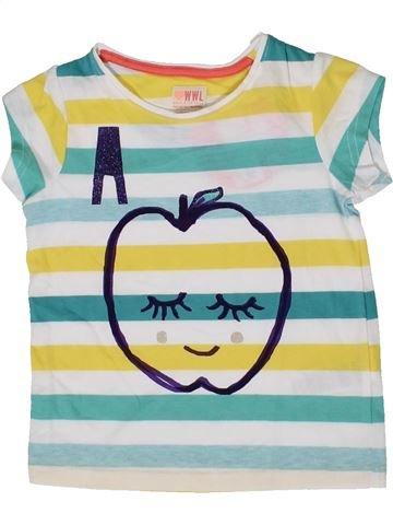 T-shirt manches courtes fille WWL bleu 3 ans été #1331626_1