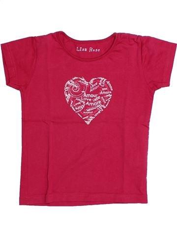 T-shirt manches courtes fille LISA ROSE rose 4 ans été #1331675_1