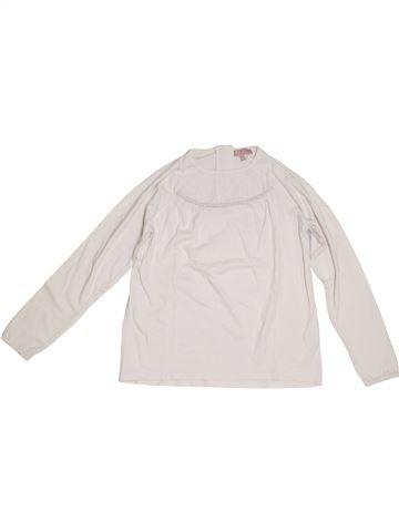 T-shirt manches longues fille LISA ROSE blanc 12 ans hiver #1331714_1