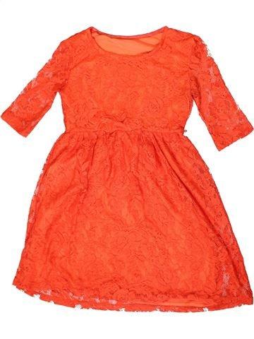 Vestido niña DUNNES STORES naranja 10 años verano #1331838_1