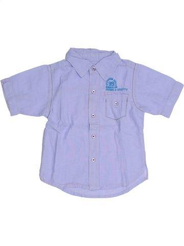 Chemise manches courtes garçon KIMBALOO violet 2 ans été #1331852_1