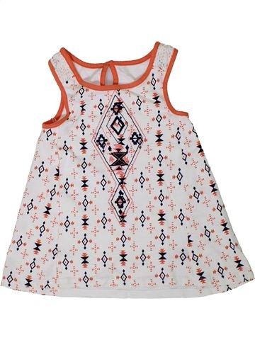 T-shirt sans manches fille DUNNES STORES blanc 6 ans été #1332085_1