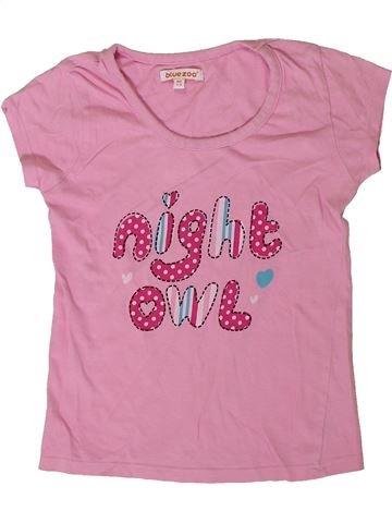 T-shirt manches courtes fille BLUEZOO rose 6 ans été #1332118_1