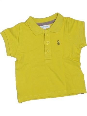 Polo manches courtes garçon OKAIDI vert 3 mois été #1332900_1
