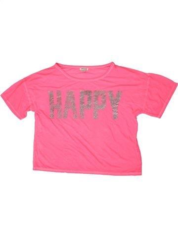 Camiseta de manga corta niña RIVER ISLAND rosa 12 años verano #1333066_1