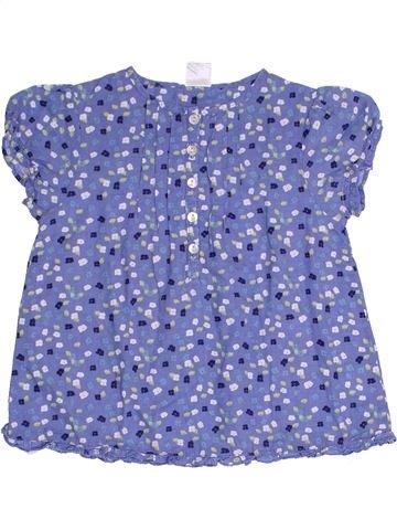 Blouse manches courtes fille CADET ROUSSELLE bleu 3 ans été #1333709_1