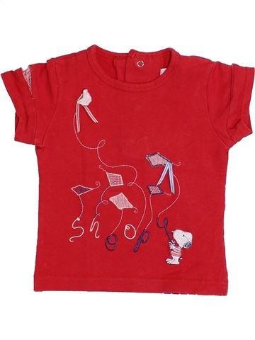 T-shirt manches courtes fille SNOOPY rouge 12 mois été #1333714_1