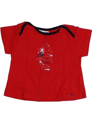 T-shirt manches courtes fille ALPHABET rouge 12 mois été #1333715_1