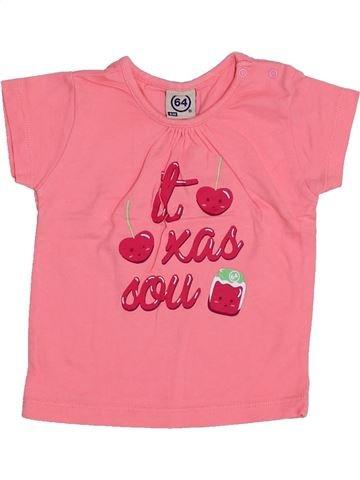 T-shirt manches courtes fille 64 rose 6 mois été #1334344_1
