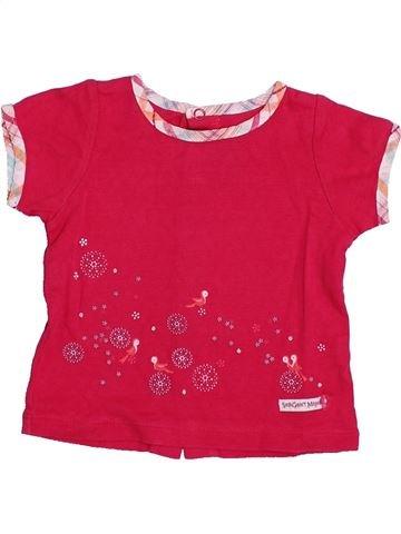 T-shirt manches courtes fille SERGENT MAJOR rouge 6 mois été #1334380_1