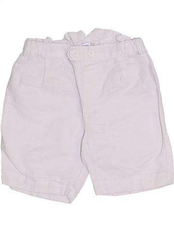Short - Bermuda fille KIABI blanc 12 mois été #1334409_1