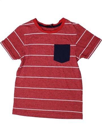 T-shirt manches courtes garçon GEORGE rouge 7 ans été #1335858_1
