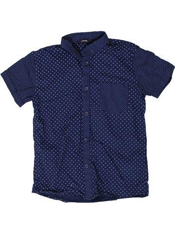 Chemise manches courtes garçon GEORGE bleu 8 ans été #1336084_1