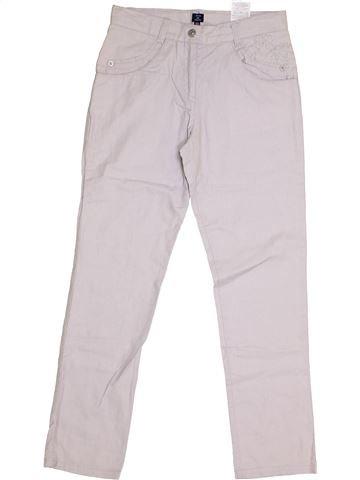 Pantalon fille TERRE DE MARINS blanc 10 ans été #1336397_1