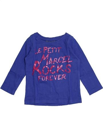 T-shirt manches longues garçon LE PETIT MARCEL violet 2 ans hiver #1337946_1