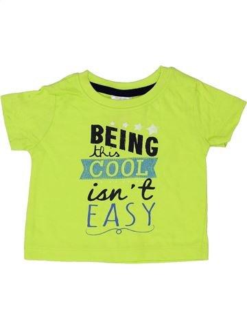 T-shirt manches courtes garçon BABY vert 6 mois été #1338573_1